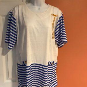 Women's 100% Knitted Cotton Shirt/Tunic, XL